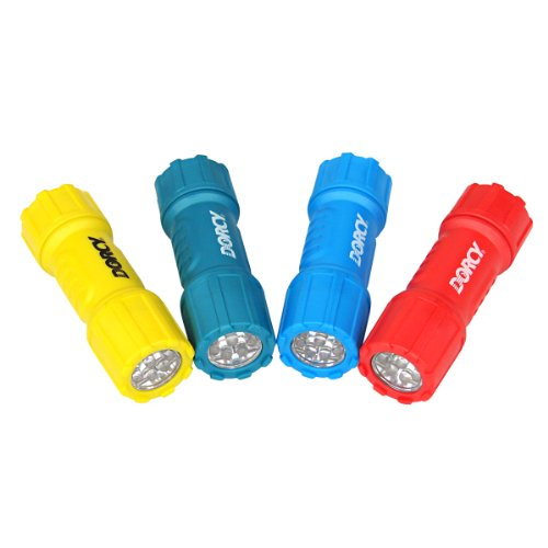 Dorcy 41-4240 Weather Resistant LED Flashlight with Lanyard, 28-Lumens,Assorted Colors