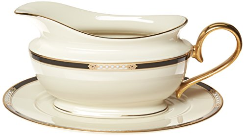 China Dinnerware Gravy (Lenox Hancock Sauce Boat and Stand)