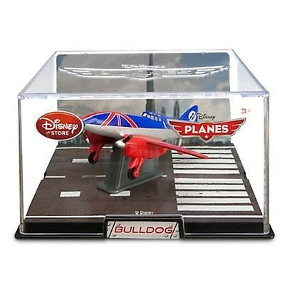 Disney Store Planes Bulldog Die Cast Toy New With Collector's Display Case