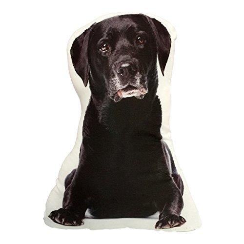 (KT Black Lab Labrador Retriever Stuffed Dog Throw Pillow Decor Gift)