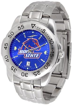 Boise State Watch - SunTime Boise State Broncos Sport Steel Band Ano-Chrome Men's Watch
