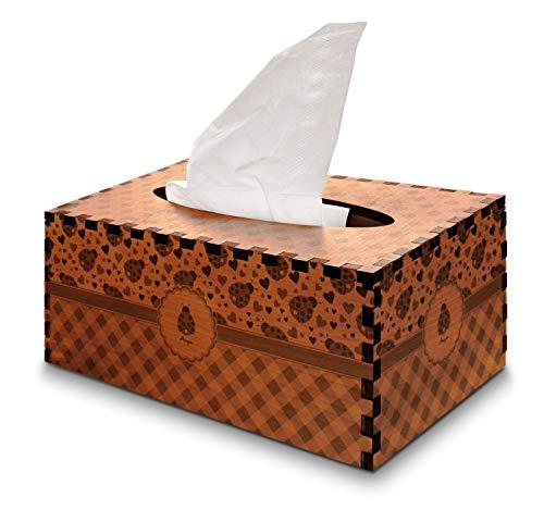 YouCustomizeIt Ladybugs & Gingham Cherry Wood Tissue Box Cover - Rectangle - Box Cover Ladybug Tissue