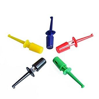 10pcs Multimeter Lead Wire Kit Test Hook Clip Grabbers Test Probe Cable Welding