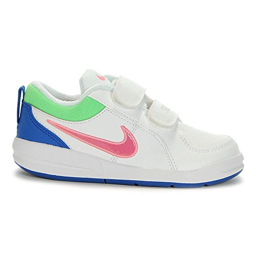 Nike - Nike Pico 4 (PSV) Scarpe Bambina Bianche Pelle Strappi 454477 - Blanc, 33.5