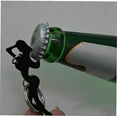 Abrebotellas Multifuncional Mini del Acero Inoxidable del Vino del Sacacorchos con Llavero Anillo