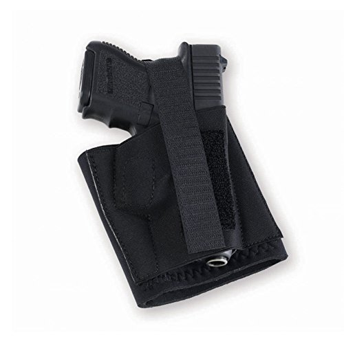Galco Cop Ankle Band for Glock 26/27/31, Sig Sauer P239, 1911 3-Inch (Black, Right-Hand) ()