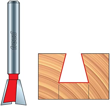 Dovetail Bit with 1//2 Shank Freud 3//4 Dia. 22-114