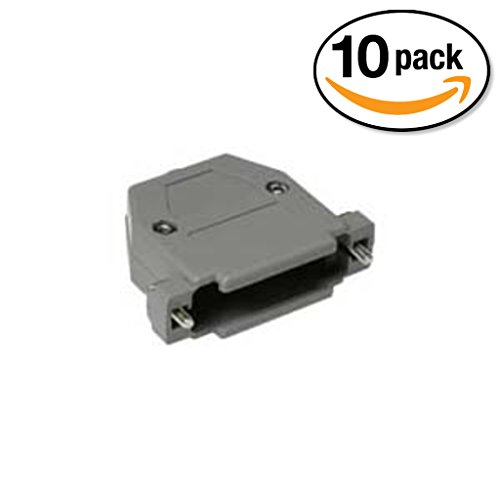 InstallerParts (10 Pack) DB25 Plastic Hoods Screw Type