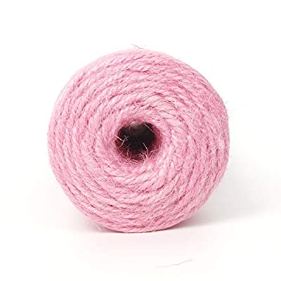 Newtrend 300 feet Nature Jute Twine Zakka Packing String for DIY Craft, Packing, Decoration and Gardening, 3Ply Durable String and Eco-Friendly (Pink) : Office Products