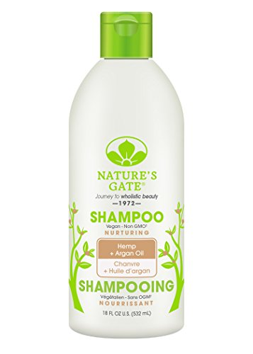 Nature's Gate Hemp Nourishing Shampoo for Dry or Frizzy Hair, 18 Ounce (Pack of 4) ()
