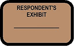 RESPONDENT\'S EXHIBIT Labels Stickers Light Brown 492 per pack