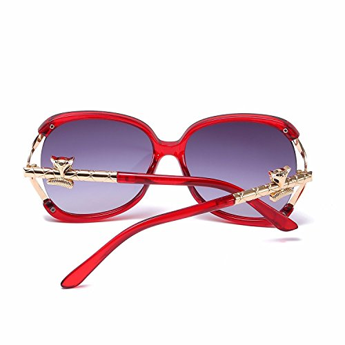 Mujer Ojo Metal La Gafas con polarizada Intellectuality Marco de B Espejo de A Gato Sobredimensionado de C5xPnqFR