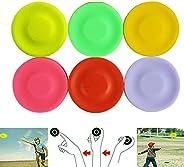 TDNE Flying Disk Outdoor Games, 6PCS Silicone Flying Disk, Mini Pocket Flexible Flying Disc, Hand Push Pocket