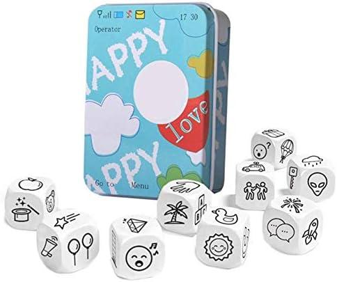 JaneDream Erzählen von Geschichtenwürfeln Imagine Bildung Spielzeug Übung Oral Sprache Geschicklichkeit Familie Haus Schule Spiel Spaß Lernen Intelligenz Spielzeug für Kinder