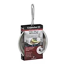 Calphalon Triply Stainless Steel 8-Inch Omelette Fry Pan