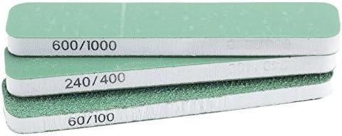 /Extra Flexi Slim-Line Sanders X3 Blanco y Verde Juego de 3 Model Craft/