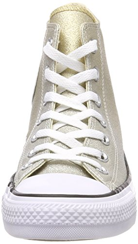 Converse Unisex Adults' CTAS Hi-Top Trainers, Grey Gold (Light Gold/Aged Gold/White 710)