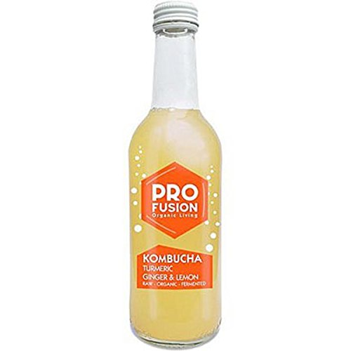 Profusion Organic Kombucha Turmeric Lemon Ginger Drink, 330 ml