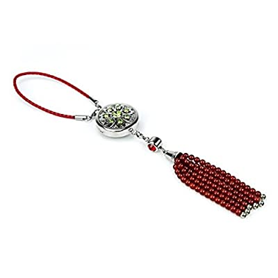 BellaSentials Car Fragrance Diffuser, Essential Oil Car Charm, Perfect Car Accessory For A Heavenly Aroma, Enjoy Your Commute After A Long Day, Car Air Freshener, Bonus Crystals & Agate Tassel!
