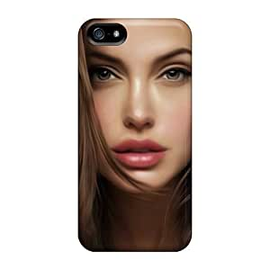 New Arrival Angelina Jolie Look Art RxG32874OrAp Cases Covers/ 5/5s Iphone Cases