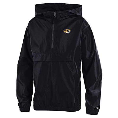 Champion NCAA Missouri Tigers Youth Boys Packable Jacket, Large, Black