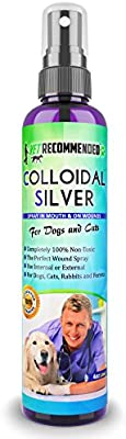 Vet Recommended - Colloidal Silver for Dogs & Cats - Colloidal Silver Spray That Works as Natural Hot Spot Solution - Made in USA