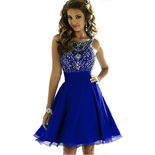 6ff5ede67a12 ... Women's Sparkly Beading Prom Dresses Short Homecoming Dresses 2018 for  Juniors Royal Blue,10. ; 