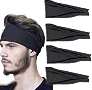 4 Pack Headbands for Men & Women Comfortable Quick Drying Head Bands absorbent belt Sports Headband Yoga S