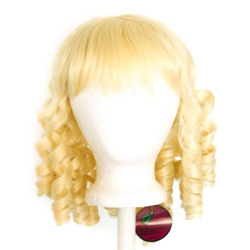 (Risa - Flaxen Blonde Wig 14'' Ringlet Curly Shoulder Length w/ Short)