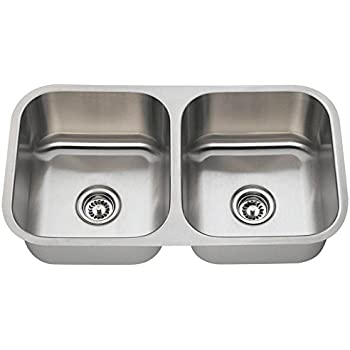 502A 18 Gauge Undermount Equal Double Bowl Stainless Steel Kitchen Sink