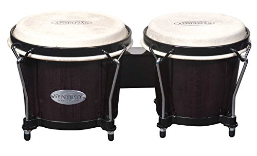 Toca Synergy Series Bongo Drums Set - Trans Black by Toca