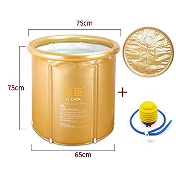GJ- Vasca da bagno pieghevole più spesse barili di plastica da bagno Vasca da bagno gonfiabili Botti semplice bagno ( Colore : Rosa )