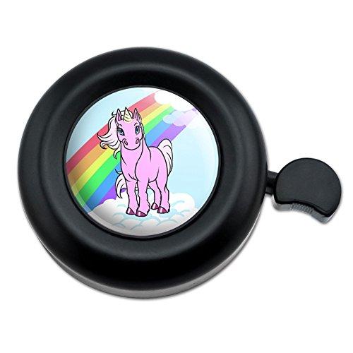 (Unicorn Pony Rainbow Pink Bicycle Handlebar Bike Bell)
