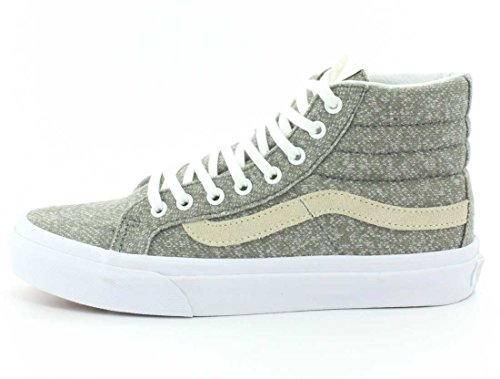 Vans Sk8-hi Unisex Casual High-top Skate Zapatos, Cómodo Y Duradero En Signature Waffle Rubber Sole Frost Grey / True White