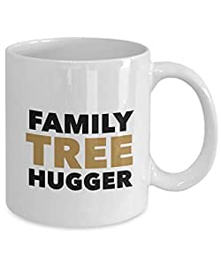 Nickerson Marketing Genealogy Gift Coffee Mug - Family Tree Hugger - Inexpensive, Funny Idea for Genealogists for Christmas, Holidays, Birthday, or Just Because