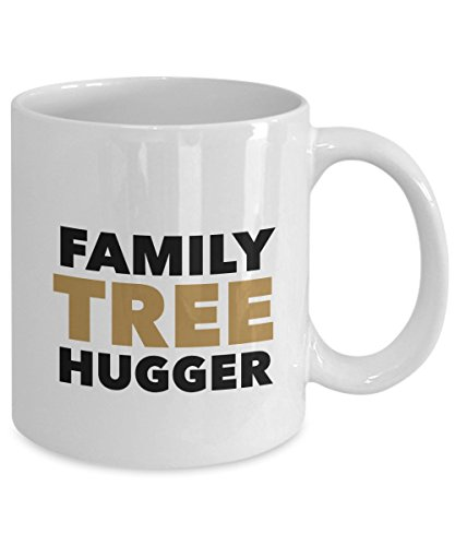 Nickerson Marketing Genealogy Gift Coffee Mug - Family Tree Hugger - Inexpensive, Funny Idea for Genealogists for Christmas, Holidays, Birthday, or Just Because ()
