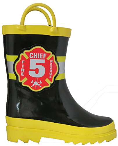 Pictures of Little Boy's Black Fire Chief Rain Black and Yellow 3