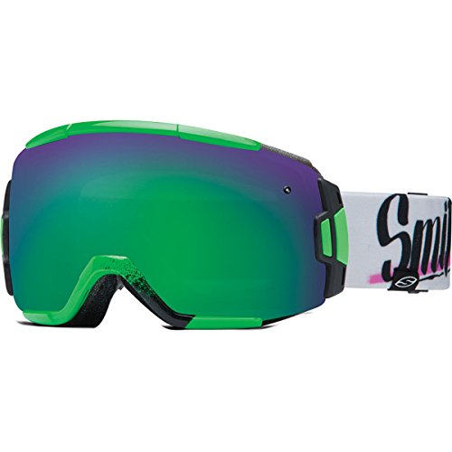 Smith Optics Vice Vaporator Series Winter Sport Snowmobile Goggles Eyewear - Neon Baron Von Fancy/Green Sensor / - Fancy Goggles