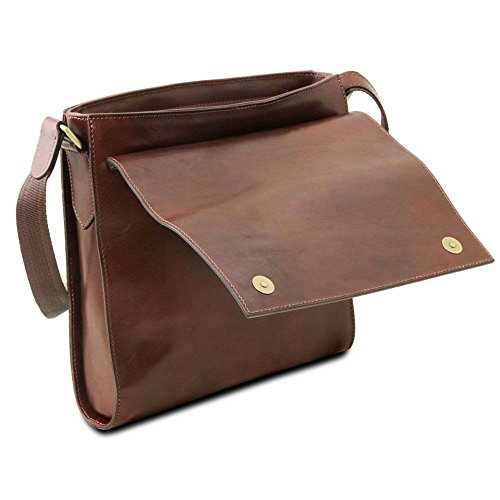 TUSCANY marrón Bolso hombro hombre al Marrón LEATHER compact para TL141656 de Piel 11rZ7a4wnq