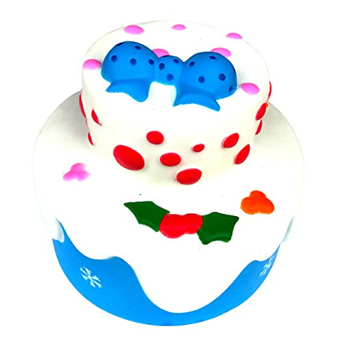 Squishy Toys, TBS Better Life Jumbo Slow Rising Squishies Stress Reliver Scented Squeeze Birthday Cake- Blue