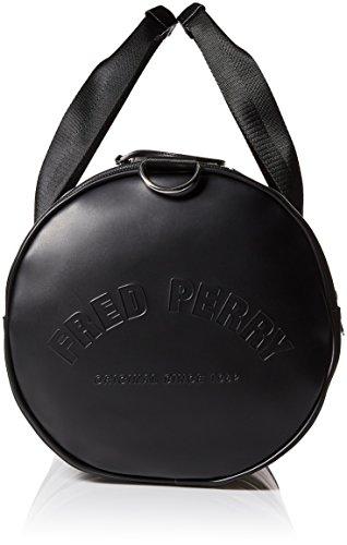 Fred Perry Piqué con textura bolsa de barril Negro única Talla