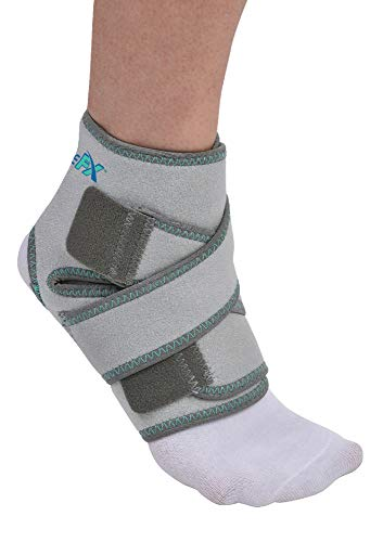 BraceFX Adjustable Ankle Support, Figure-Eight Straps, for Sprained or Strained Ankle Injuries, Worn with or Without Sock, One Size