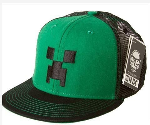 Officially Licensed | MINECRAFT SNAP BACK HAT | Green/Black Creeper Face Cap | M/L | 56cm (Minecraft Creeper Cap compare prices)