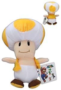 Super Mario Bros: Muñeco Peluche Toad Amarillo 23cm Seta Video Juego Nintendo