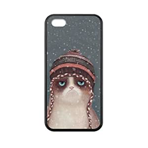 Case for iPhone 4/4s Cute Grumpy Cat Personalized Custom Durable Protector