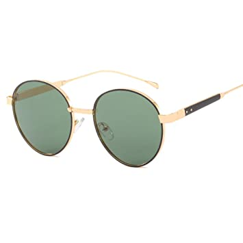 Z&HA Gafas de Sol Redondas para Mujer Elegante gradiente ...