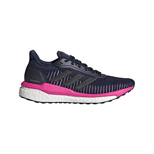 adidas Women's Solar Drive 19 Running Shoe, Collegiate Navy/Black/Shock Pink, 7.5 M US