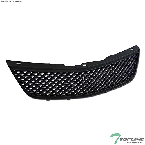 Topline Autopart Black Mesh Front Hood Bumper Grill Grille ABS For 00-05 Chevy Impala ()