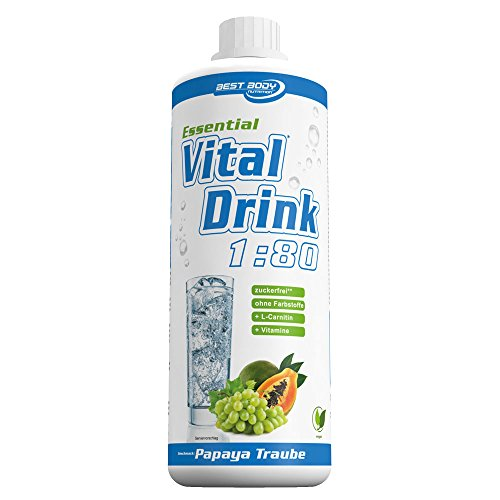Best Body Nutrition Essential VitalDrink Papaya Traube, 1:80, 1er Pack (1 x 1l)