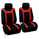 FH Group FB070RED102 Red Front Airbag Ready Sport Bucket Seat Cover, Set of 2